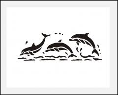 Motiv-Schablone Delfine