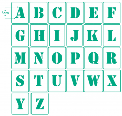 Einzel - Schablonen Buchstaben ● 8cm hoch Alphabet Druckbuchstaben